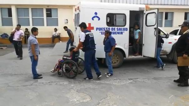 Los niños llegaron al Hospital Regional Docente para ser atendidos.