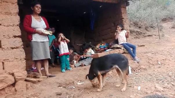 Esta es la humilde vivienda de la familia en el caserío El Guayo, en Gran Chimú.