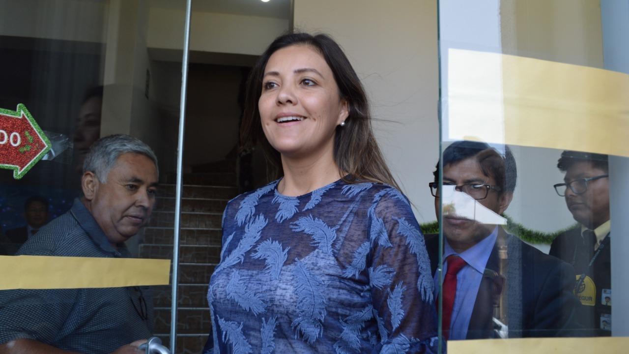 Yamila Osorio, exgobernadora regional de Arequipa fue citada por la Fiscalía.