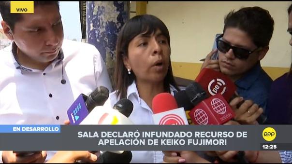 Abogada de lideresa de Fuerza Popular dijo que la próxima semana se presentará el recurso de casación a la Corte Suprema y buscar la libertad de su defendida.