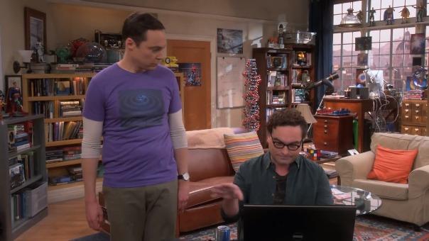 Leonard y Sheldon en una de las escenas de la última temporada de