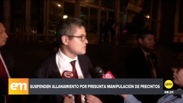 Declaraciones del fiscal José Domingo Pérez