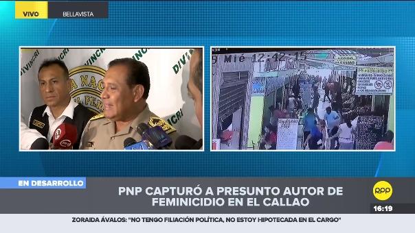 Según información de la Región policial Callao, Sandro Villegas Arévalo, dijo que sacó el arma de la sede del Ministerio de la Mujer, donde brinda resguardo.