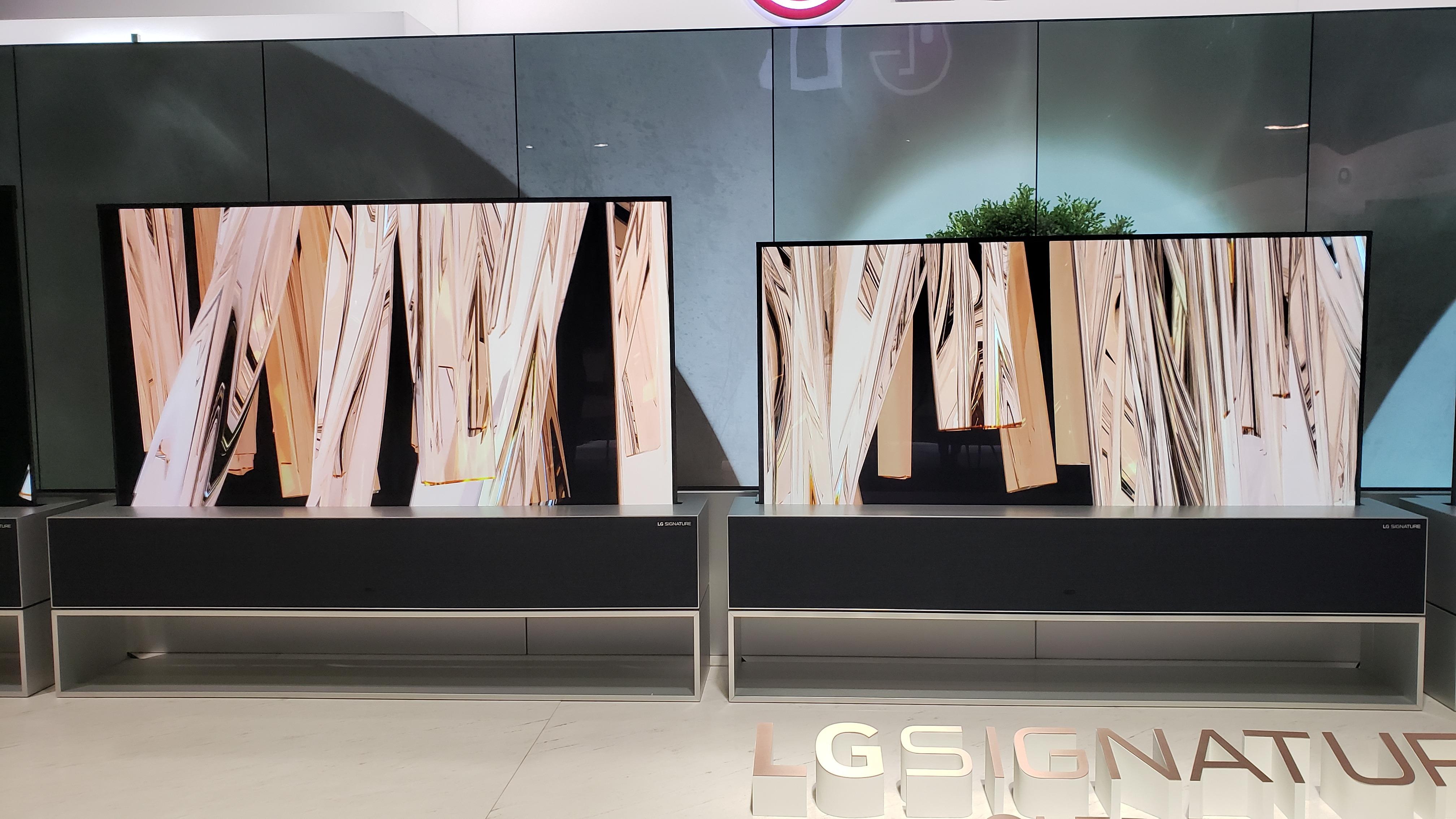 Así son los televisores enrollables de LG.