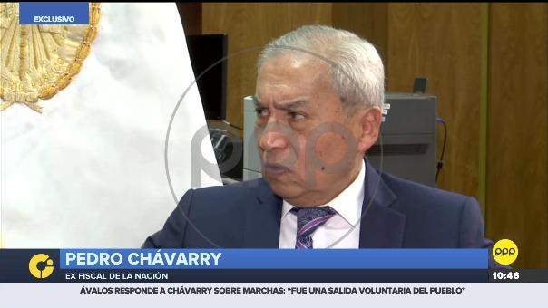Pedro Chávarry, ex fiscal de la Nación, en entrevista con RPP.