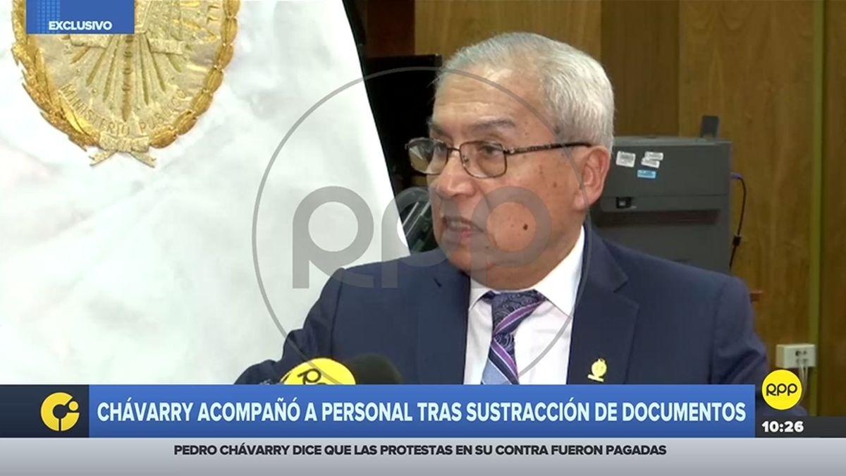 Pedro Chávarry, ex fiscal de la Nación, en entrevista con RPP Noticias.
