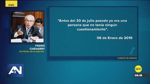 Esto dijo Pedro Chávarry