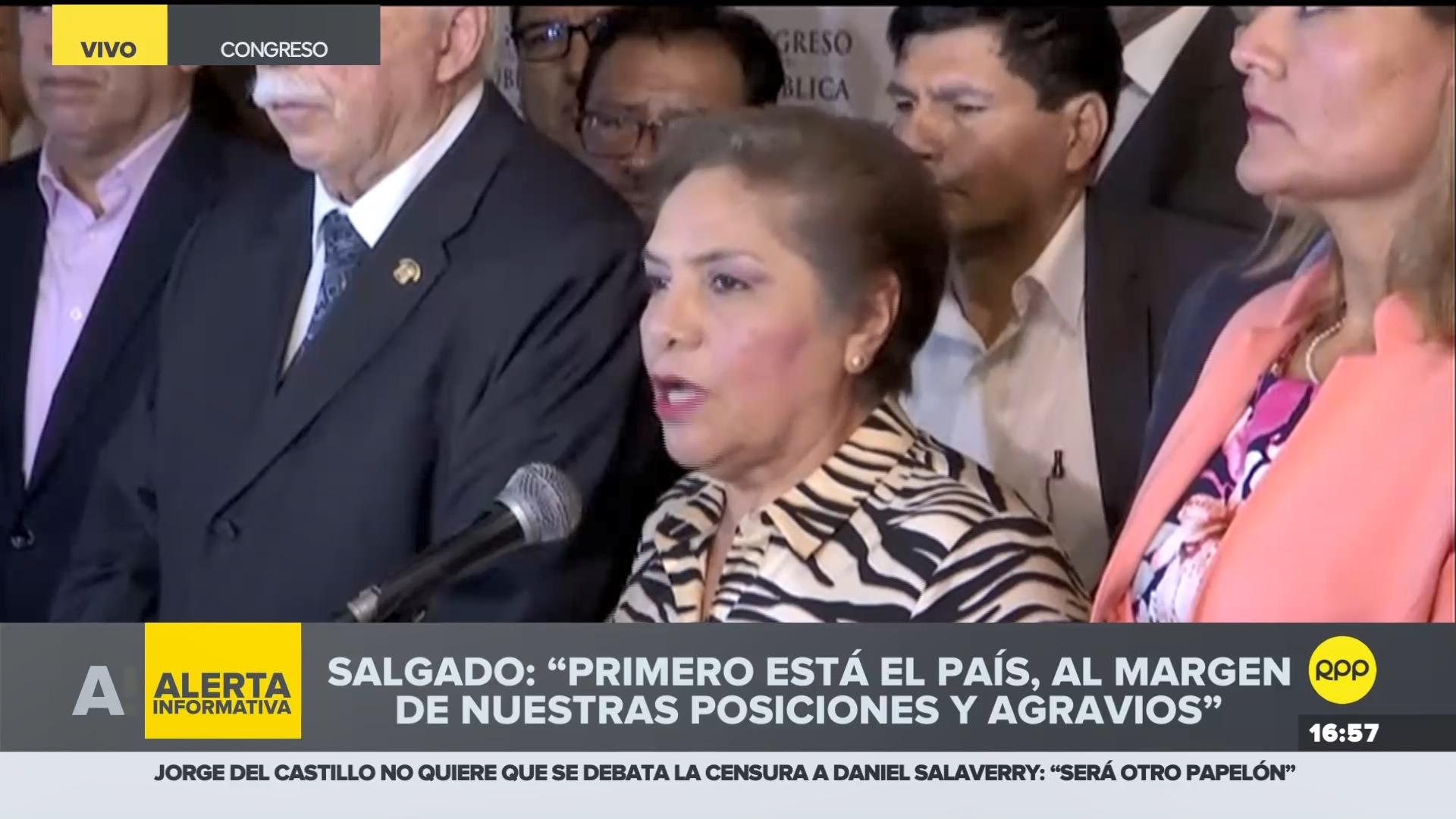 Luz Salgado explicó por qué decidieron retirar la moción de censura.