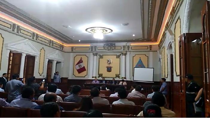 Sesión del Concejo Municipal de chiclayo