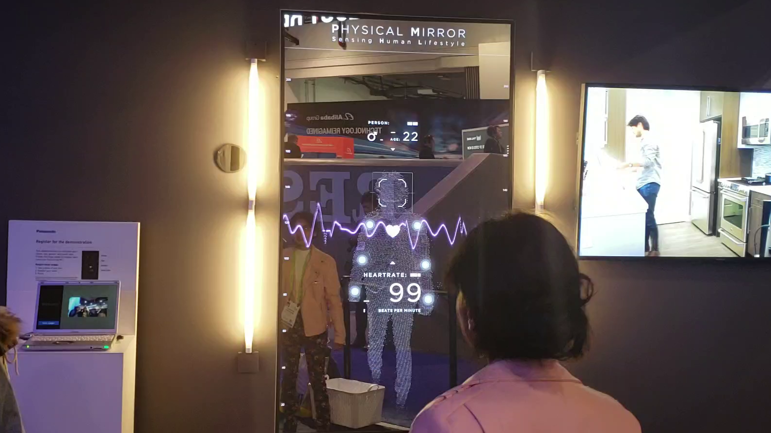 Parte de la exposición de Panasonic en CES 2019 en Las Vegas.