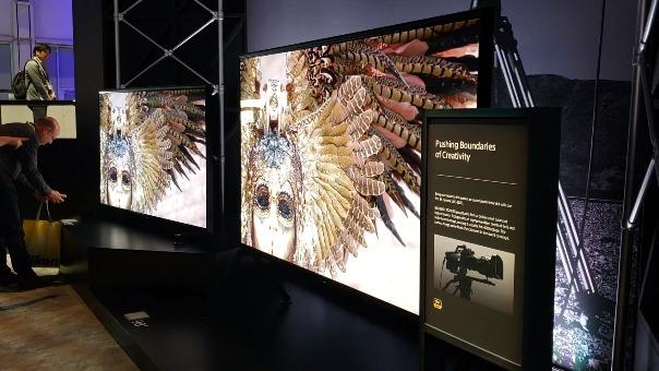 Sony mostró su televisor 8K LCD con retroiluminación LED en CES 2019.