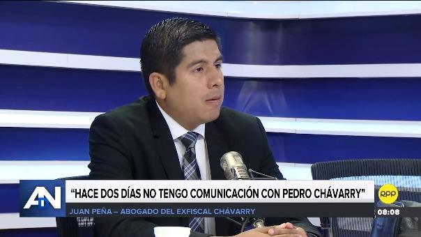 Juan Peña, abogado de Pedro Chávarry, en entrevista en RPP.