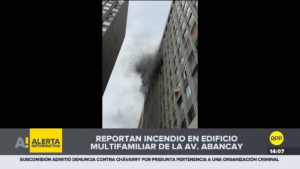 Incendio en edificio de la Av. Abancay