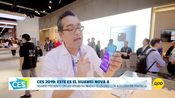 Así luce el Huawei Nova 4 que vimos en el CES 2019