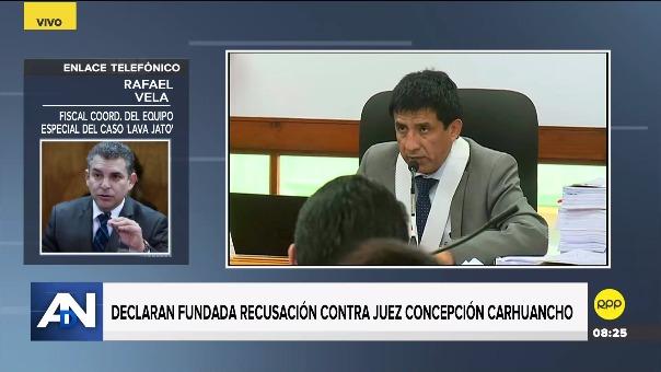 Rafael Vela lamentó la recusación del juez Richard Concepción Carhuancho.