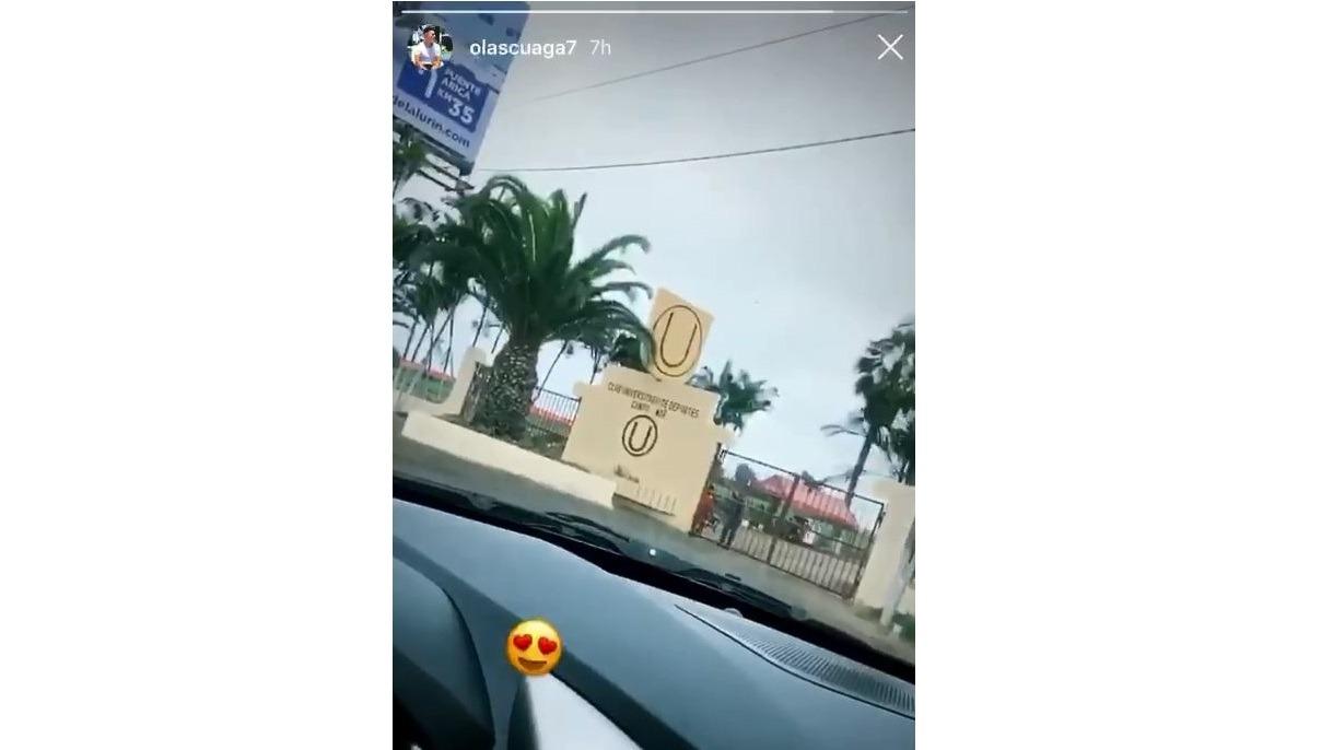 Carlos Olascuaga publicó en su Instagram un video entrando a Campo Mar.