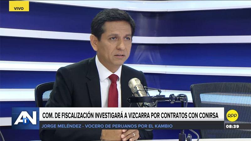 El vocero del oficialismo comentó que quieren meter al presidente Vizcarra el mismo saco de Alan García y Keiko Fujimori.