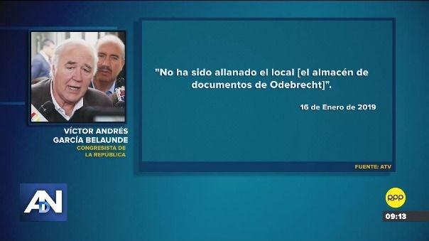 Esto dijo García Belaúnde.
