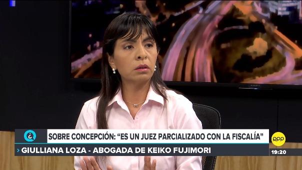 Giulliana Loza en RPP.