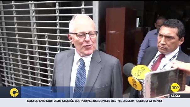 PPK declaró en la sede del Ministerio Público.