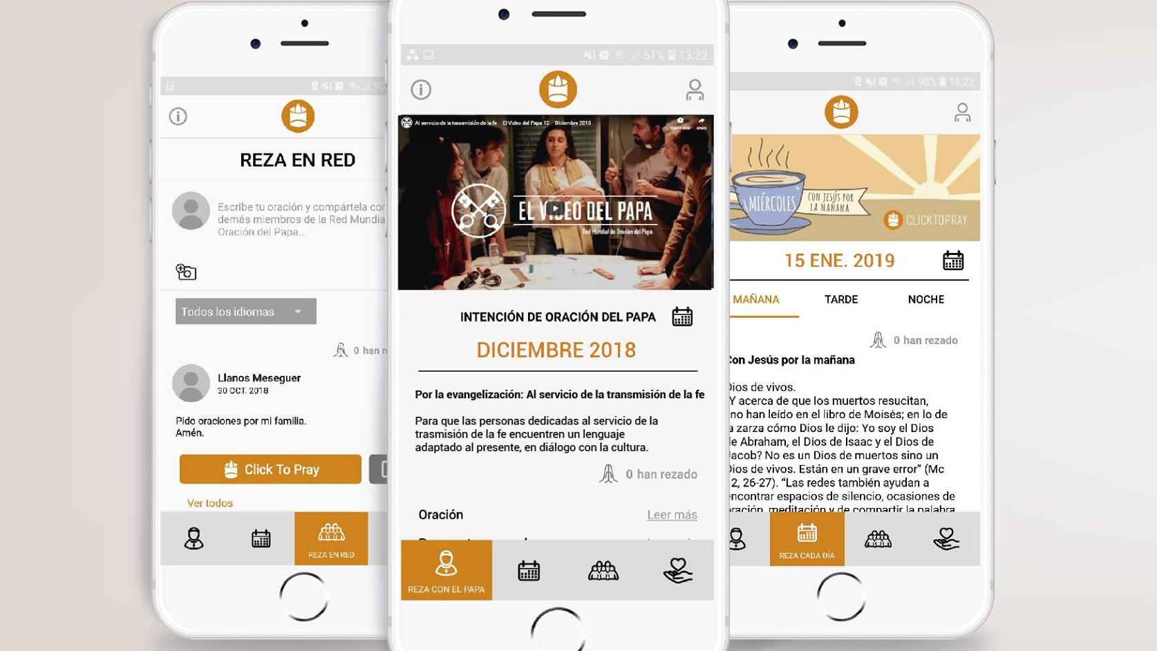 'Click to Pray', la aplicación que el papa Francisco publicita.