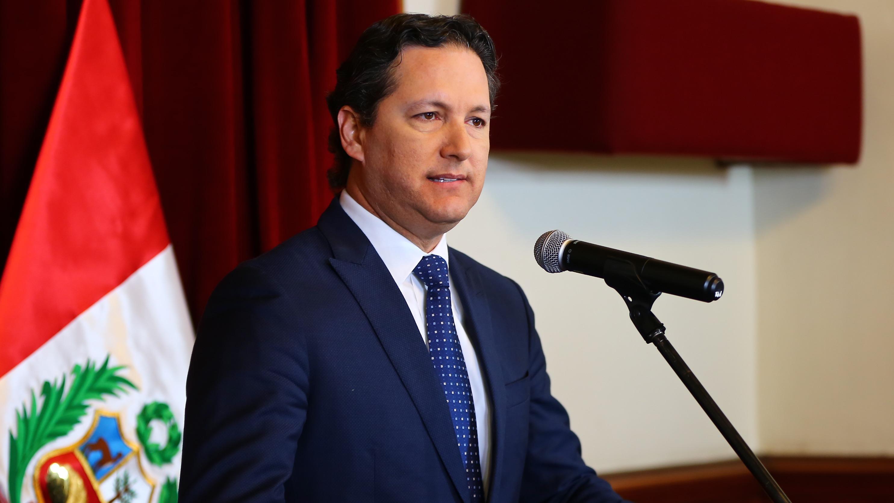 El presidente de la Mesa Directiva condenó la corrupción en el Perú.
