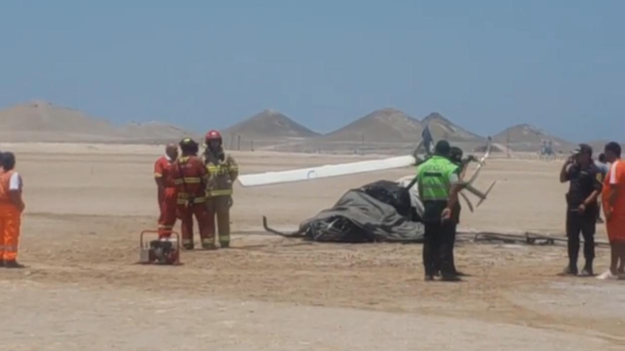 Dos muertos dejó caída de helicóptero.