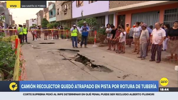 Vecinos expresaron su indignación por la integridad de las familias que viven en ese sector de San Martín de Porres.