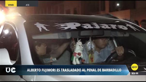 Así fue la llegada de Alberto Fujimori al penal de Barbadillo en la Diroes.