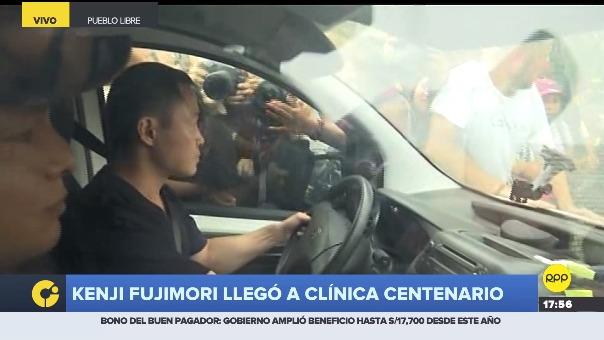 Kenji Fujimori tuvo un accidentado ingreso a la Clínica Centenario.