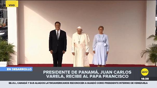Francisco llegó a Panamá.