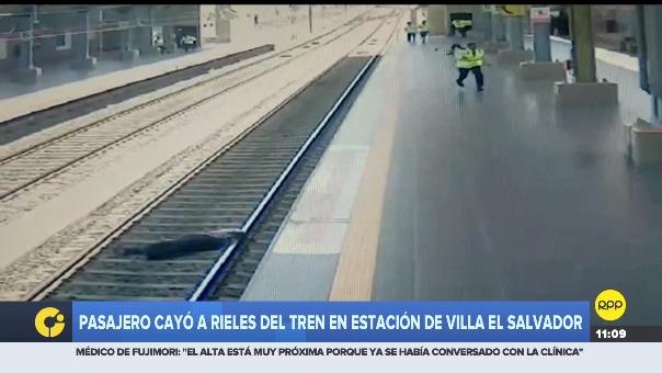 Usuario se encontraba esperando tomar el tren cuando de repente cayó generando la alarma en los trabajadores y público presente en la estación.