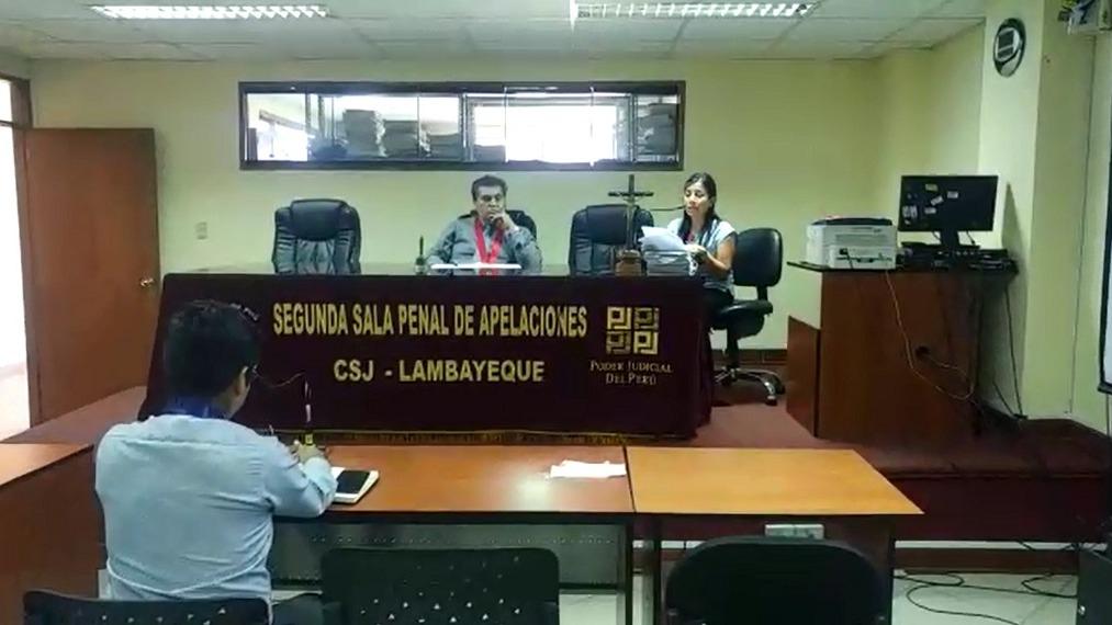 Lectura se sentencia contra Willy Serrato en la Segunda Sala Penal de Apelaciones