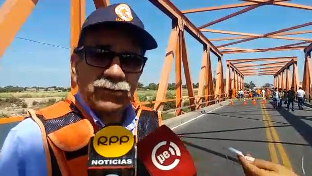 Jefe Regional Indeci, Carlos Balarezo pidió aclarar si el puente es definitivo o provisional