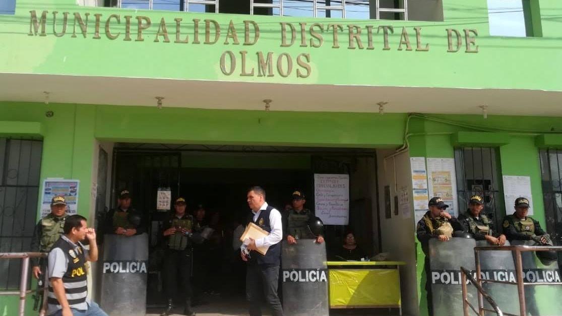 Diligencias en el municipio de Olmos
