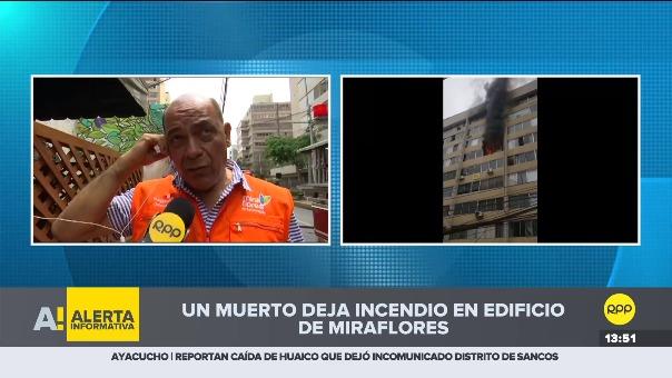 Hasta ocho unidades de los Bomberos atienden esta emergencia que se registra en un edificio de diez pisos. Los ocupantes de los departamentos afectados fueron evacuados.