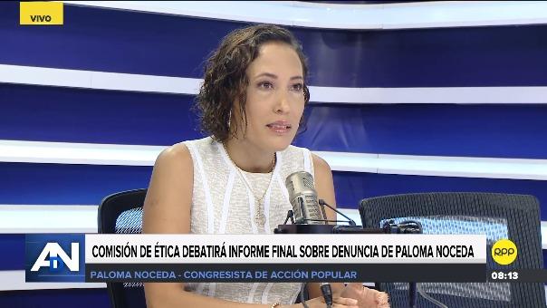 Paloma Noceda en Ampliación de Noticias por RPP.