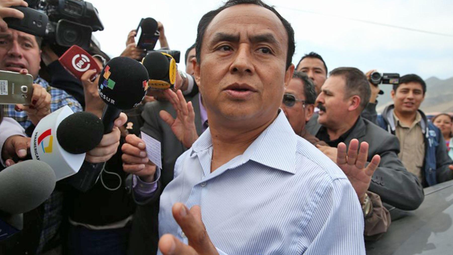 Gregorio Santos fue gobernante de Cajamarca entre 2011 y 2014.