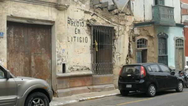 Casonas del jirón San Martín son algunas de las que se encuentran en peor estado.