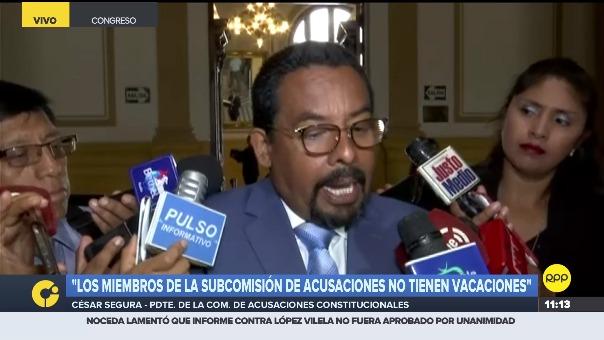 César Segura, presidente de la Subcomisión de Acusaciones Constitucionales.