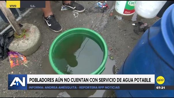 Pobladores aún no cuentan con servicio de agua potable.