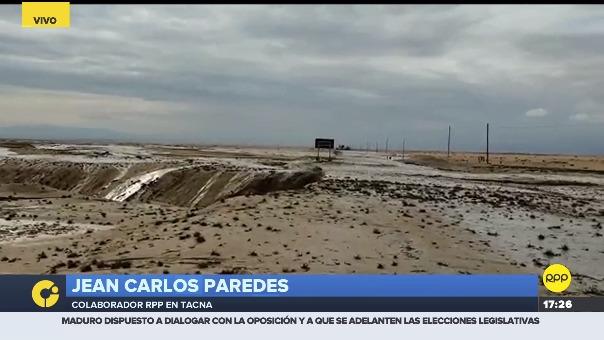 A la altura del kilómetro 9 y 10 de la Panamericana Sur en Tacna.