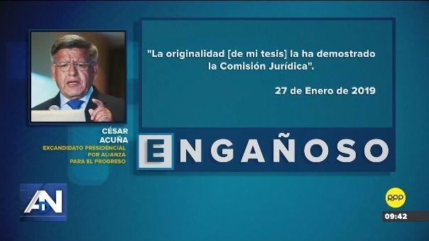 Esto dijo César Acuña