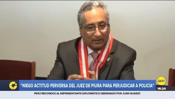 Conferencia de prensa del presidente del Poder Judicial.