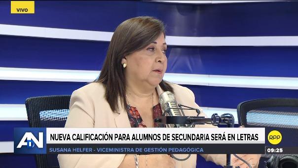 Viceministra de Gestión Pedagógica en Ampliación de Noticias.