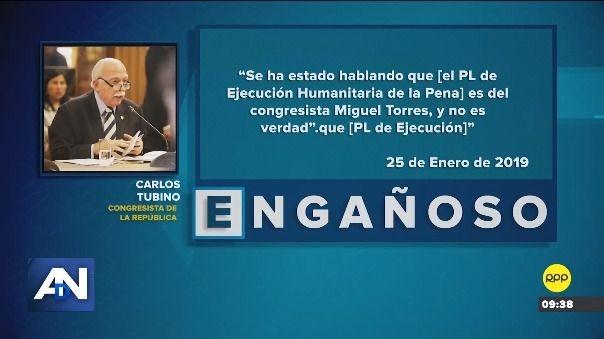 Esto es lo que dijo Carlos Tubino
