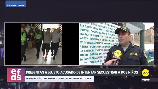 Wl detenido será derivado al Departamento de Investigación Criminal de San Juan de Lurigancho.