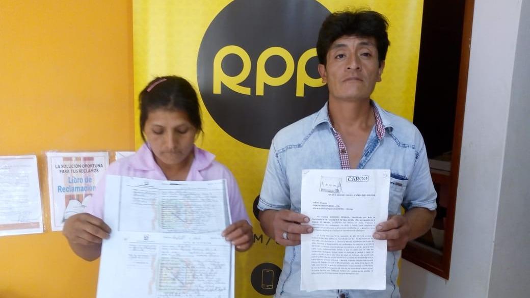 Pareja llegó a RPP hacer público su caso