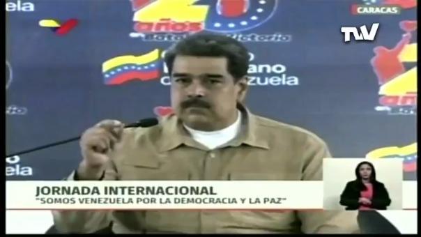 El mandatario venezolano Nicolás Maduro durante un evento público.