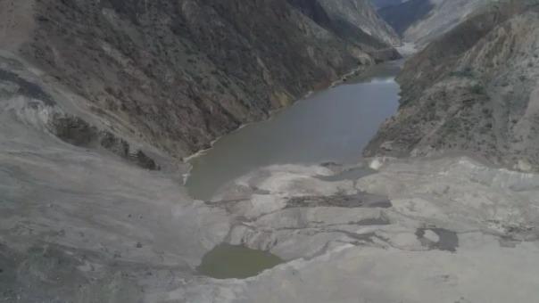 El deslizamiento también afectó la carretera de acceso a Pataz.